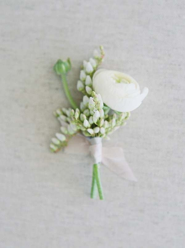 Boutonniere   Modern Minimalism for a Morning Wedding by Maria Lamb Photography