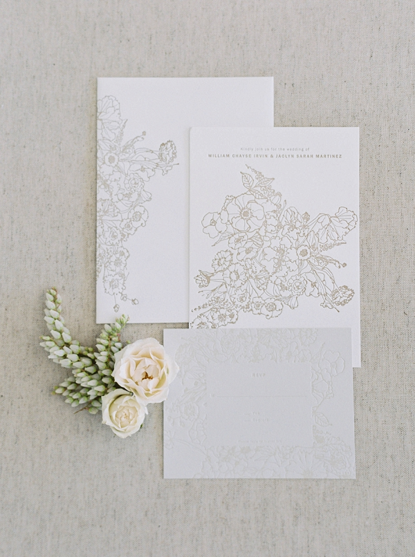 Wedding Invitation Suite   Modern Minimalism for a Morning Wedding by Maria Lamb Photography