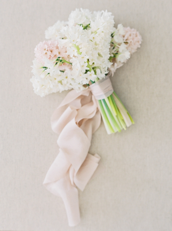 Soft Hyacinth Bouquet   Modern Minimalism for a Morning Wedding by Maria Lamb Photography