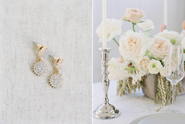 Bridal Earrings   Modern Minimalism for a Morning Wedding by Maria Lamb Photography