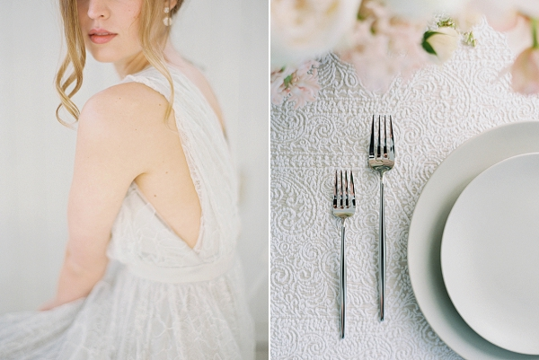 Place Setting   Modern Minimalism for a Morning Wedding by Maria Lamb Photography