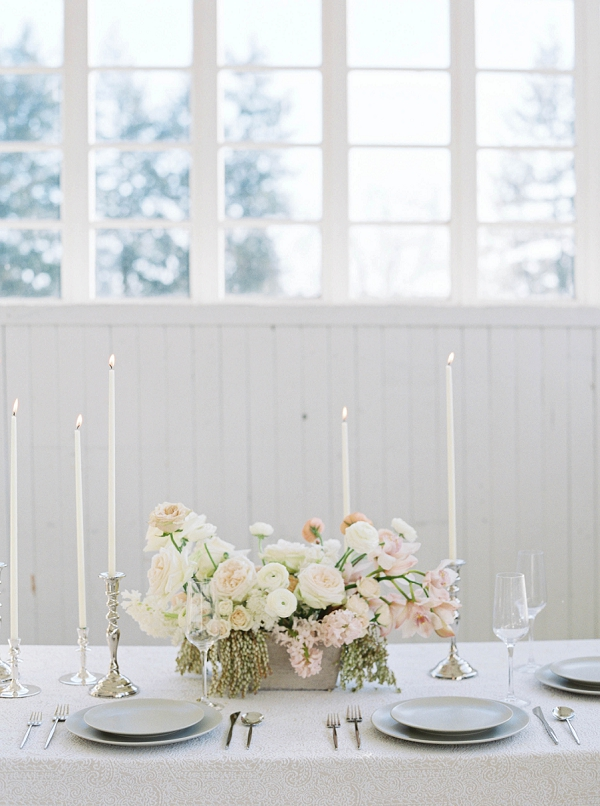 Tablescape   Modern Minimalism for a Morning Wedding by Maria Lamb Photography