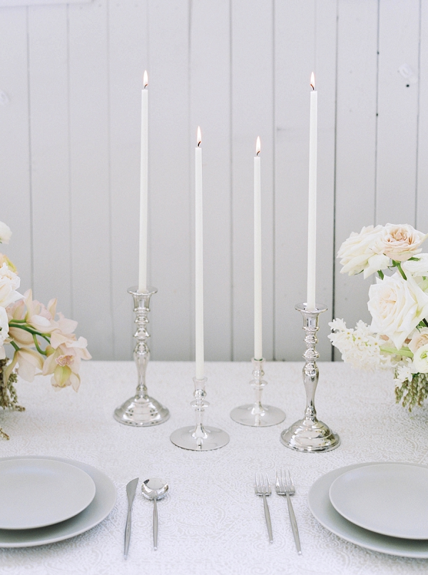 Candles   Modern Minimalism for a Morning Wedding by Maria Lamb Photography