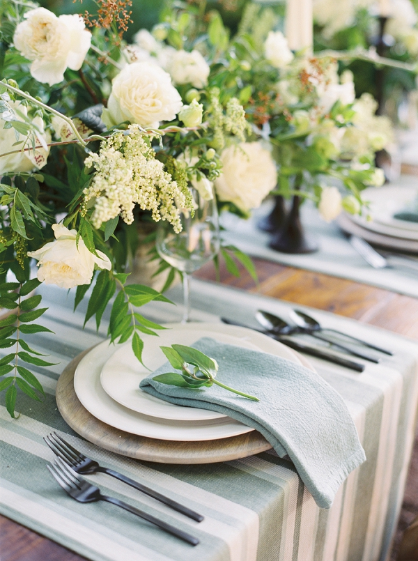 Tablescape   Timeless Garden Wedding Elegance from Michelle Boyd Photography