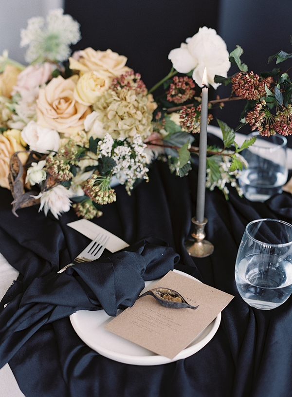 Place Setting | Art Inspired Bridal Inspiration By Sara Weir Photography
