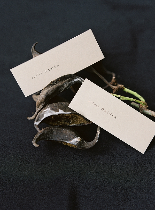 Place Cards | Art Inspired Bridal Inspiration By Sara Weir Photography