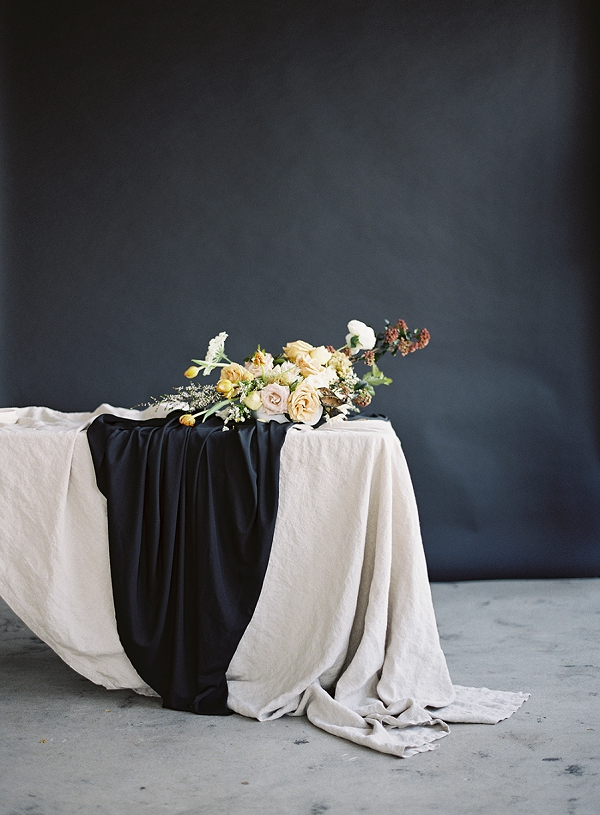 Moody Tablescape and Setting | Art Inspired Bridal Inspiration By Sara Weir Photography