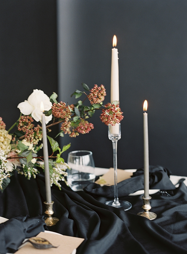 Flowers and Candles | Art Inspired Bridal Inspiration By Sara Weir Photography
