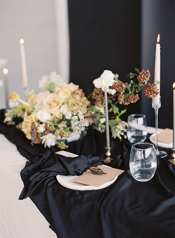 Modern Tablescape | Art Inspired Bridal Inspiration By Sara Weir Photography