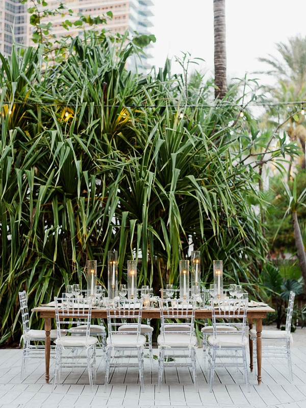 Elegant Tablescape Ideas | Chic Art Deco Miami Wedding By Merari Photography
