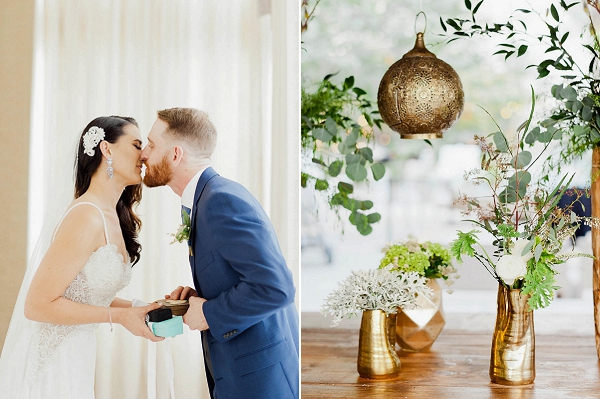 Modern Metallic Decor | Chic Art Deco Miami Wedding By Merari Photography