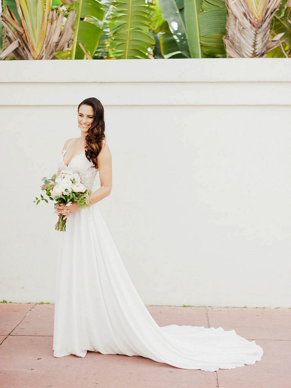 Allure Wedding Dress | Chic Art Deco Miami Wedding By Merari Photography