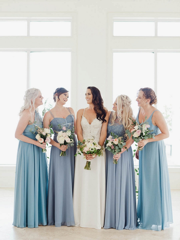 Bride and Bridesmaids | Chic Art Deco Miami Wedding By Merari Photography
