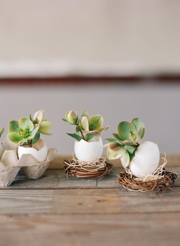 Citrus Easter Table and DIY Egg Planters by Shannon Von Eschen and Bare Root Flora