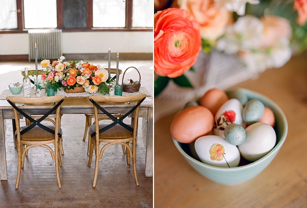 Citrus Easter Table and DIY Floral Decoupage by Shannon Von Eschen and Bare Root Flora