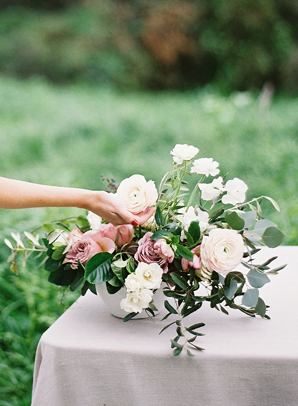 Floral Centerpiece   Romantic Floral Wedding Inspiration By Sara Weir Photography