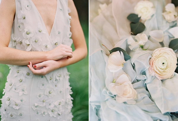 Floral Bridal Gown   Romantic Floral Wedding Inspiration By Sara Weir Photography