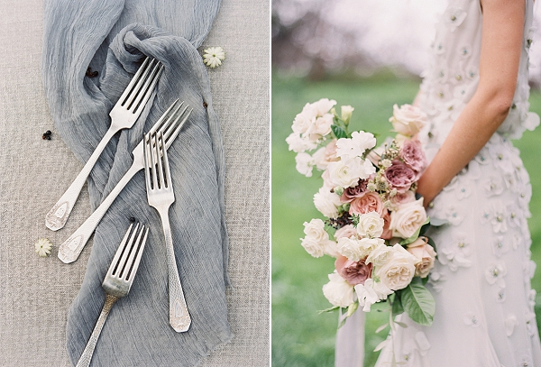 Blush Pink and Ivory Bouquet   Romantic Floral Wedding Inspiration By Sara Weir Photography