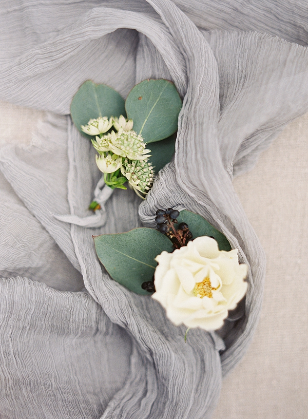 Boutonnieres   Romantic Floral Wedding Inspiration By Sara Weir Photography