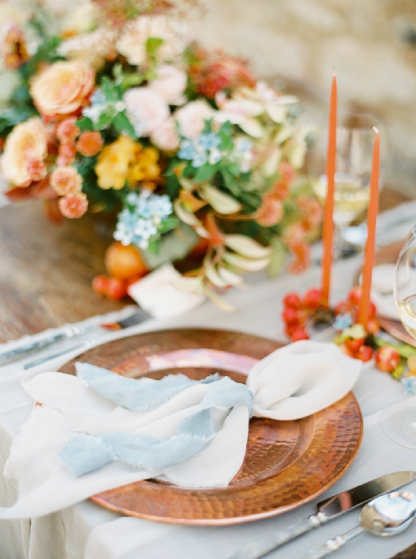 Tablescape | Tuscany Wedding Inspiration by Rebecca Hollis Photography