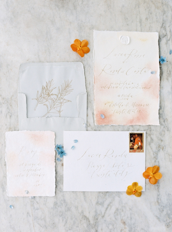 Invitation Suite | Tuscany Wedding Inspiration by Rebecca Hollis Photography