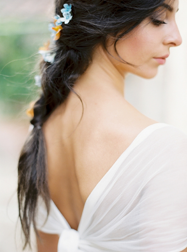 Wedding Hair | Tuscany Wedding Inspiration by Rebecca Hollis Photography