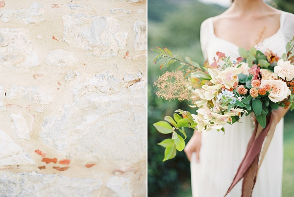 Blush Pink Bouquet | Tuscany Wedding Inspiration by Rebecca Hollis Photography