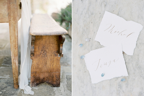 Place Cards | Tuscany Wedding Inspiration by Rebecca Hollis Photography