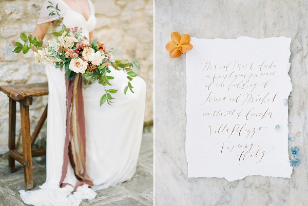 Calligraphy | Tuscany Wedding Inspiration by Rebecca Hollis Photography