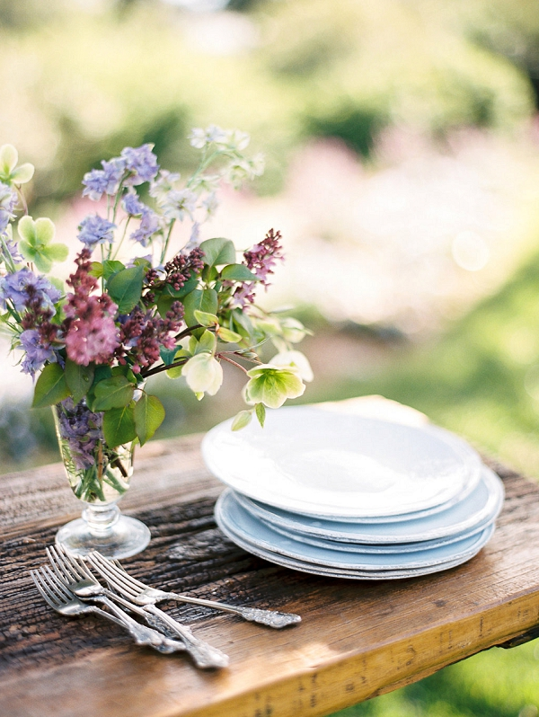 Elegant Chinaware | Classically Elegant Lavender Wedding Inspiration at San Ysidro Ranch by Jen Rodriguez Photography