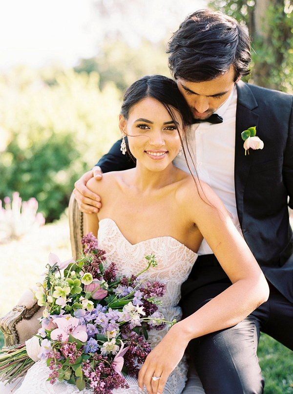 Classic Bride and Groom Style | Classically Elegant Lavender Wedding Inspiration at San Ysidro Ranch by Jen Rodriguez Photography