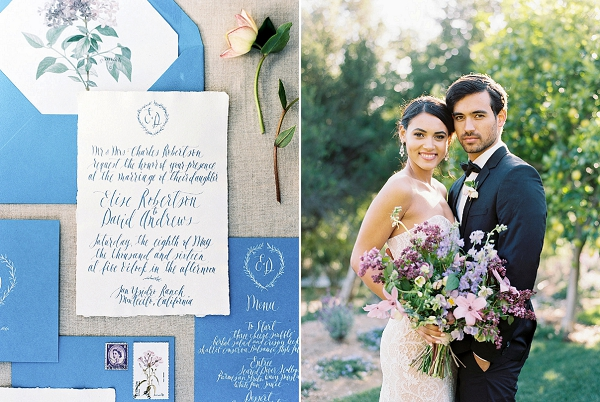 Calligraphy | Classically Elegant Lavender Wedding Inspiration at San Ysidro Ranch by Jen Rodriguez Photography