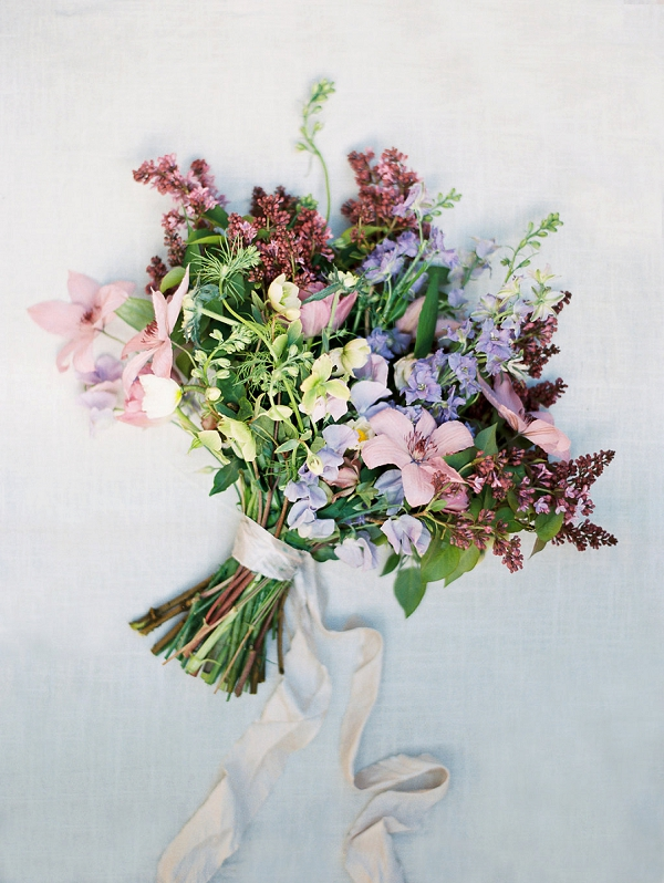 Textured Spring Bouquet | Classically Elegant Lavender Wedding Inspiration at San Ysidro Ranch by Jen Rodriguez Photography
