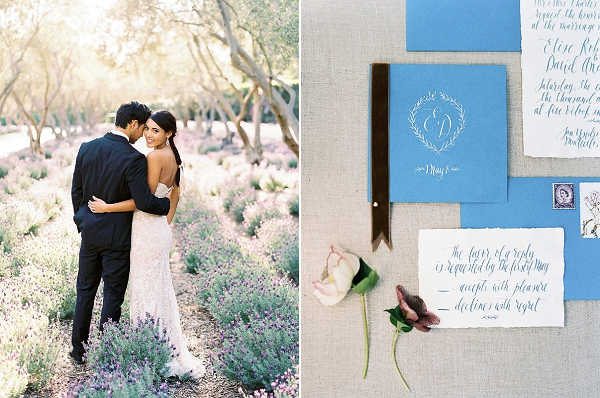Wedding Monogram | Classically Elegant Lavender Wedding Inspiration at San Ysidro Ranch by Jen Rodriguez Photography