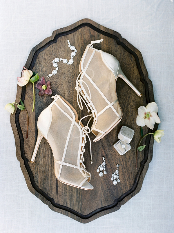 Badgley Mischka Wedding Shoes | Classically Elegant Lavender Wedding Inspiration at San Ysidro Ranch by Jen Rodriguez Photography