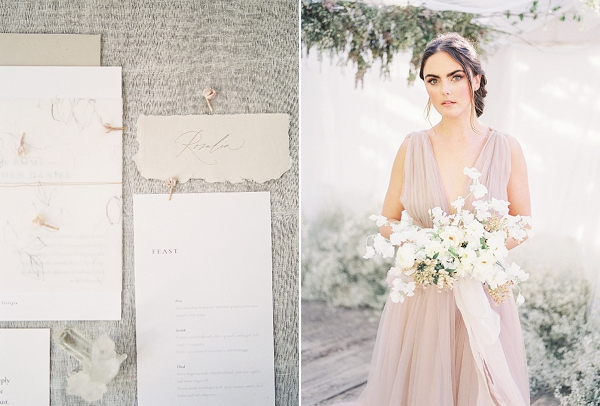 Invitation Suite | Enchanting Crystal Wedding Ideas from Lisa Catherine Photography