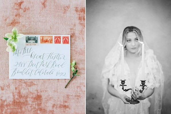Envelope with Calligraphy | Old World Bridal Inspiration By Jen Jar Photography