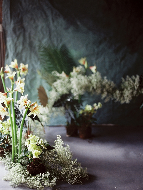 Backdrop and Florals | Ethereal Greenhouse Wedding Inspiration from Brushfire Photography