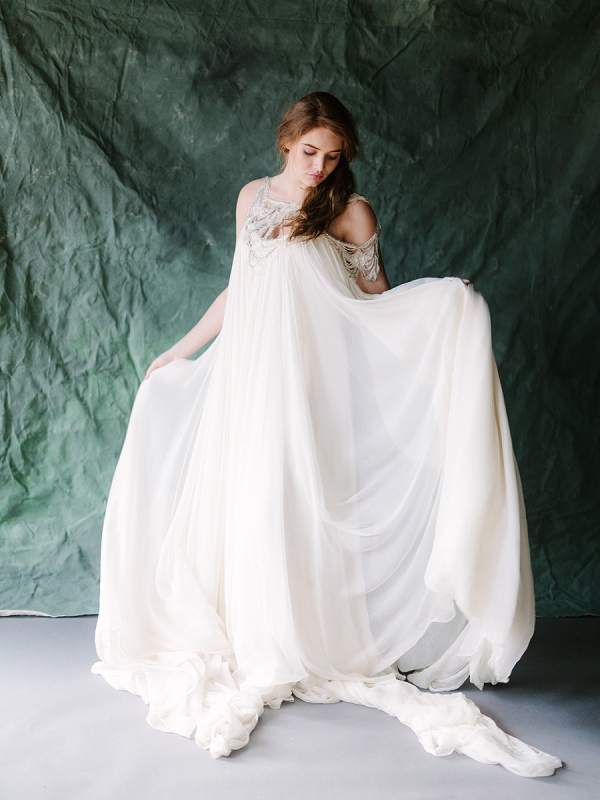 Carol Hannah Bridal Gown | Ethereal Greenhouse Wedding Inspiration from Brushfire Photography
