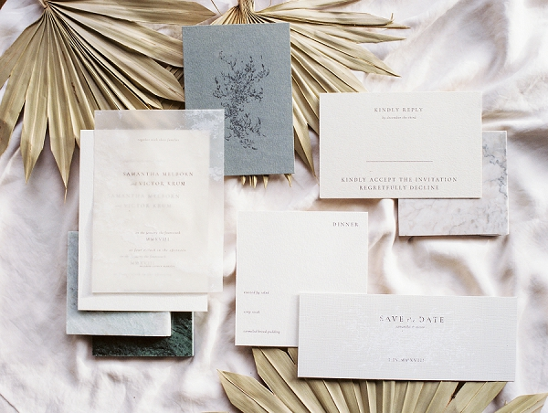 Modern Invitation Suite | Ethereal Greenhouse Wedding Inspiration from Brushfire Photography