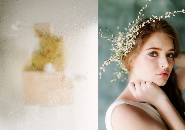 Bridal Floral Headpiece | Ethereal Greenhouse Wedding Inspiration from Brushfire Photography