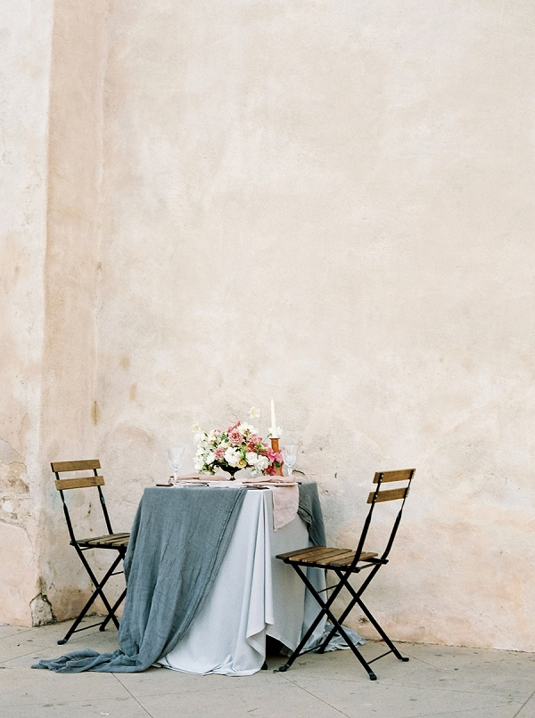 Sweetheart Table Setting | Old World Bridal Inspiration By Jen Jar Photography
