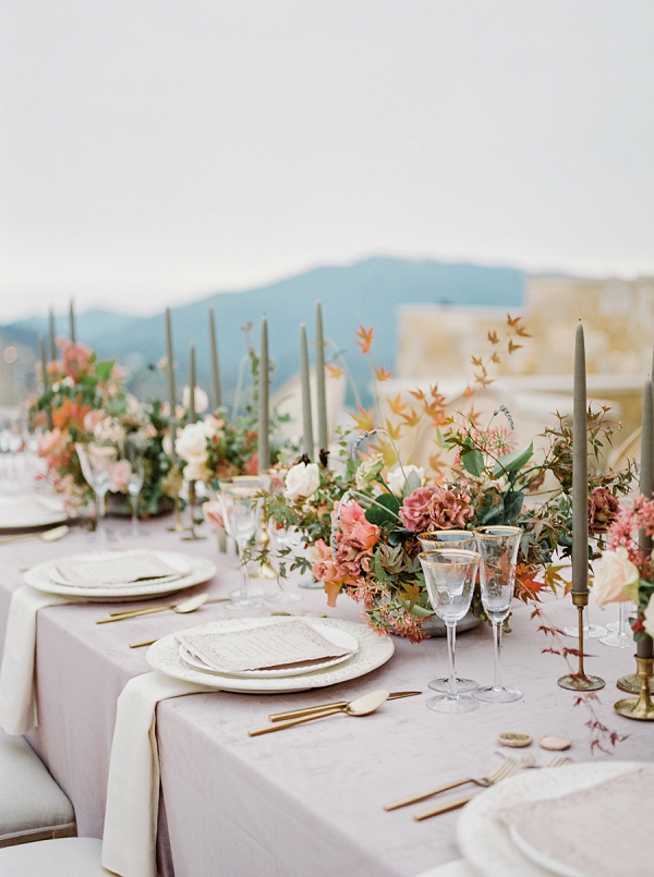 Tablescape in Romantic Palette | Romantic Bridal Ballerina Inspiration In Malibu by Babsie Ly Photography