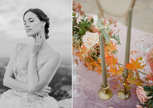 Grey Candles | Romantic Bridal Ballerina Inspiration In Malibu by Babsie Ly Photography