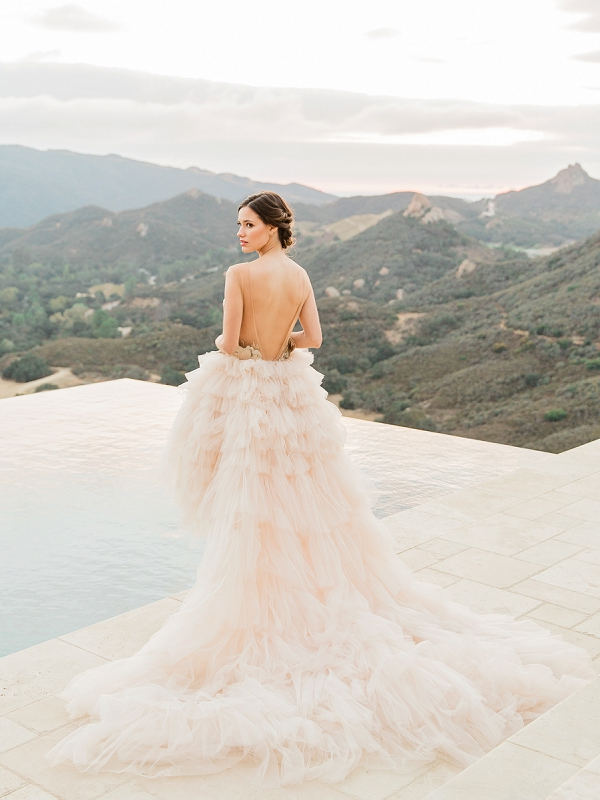Musat Wedding Dress | Romantic Bridal Ballerina Inspiration In Malibu by Babsie Ly Photography