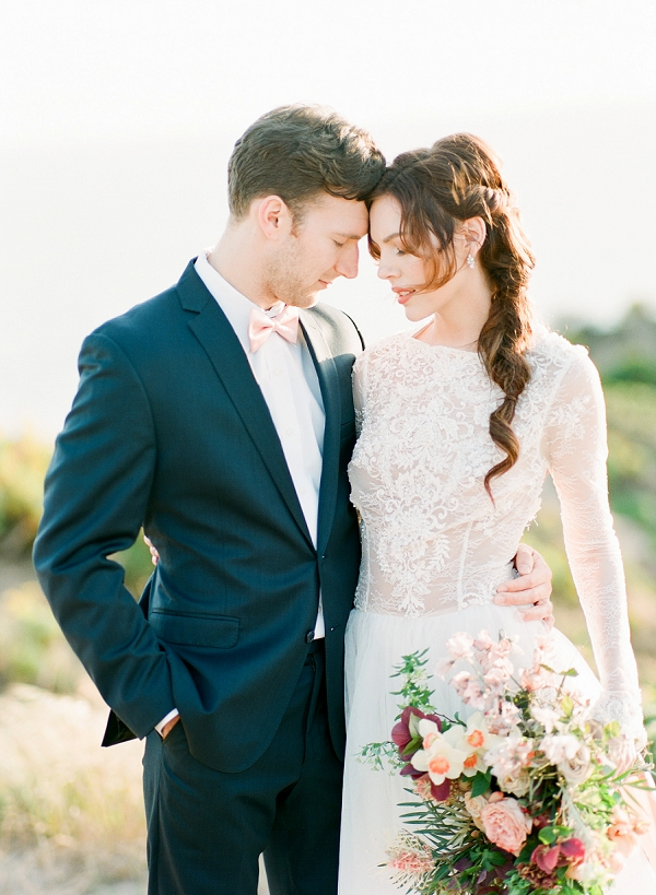 Bride and Groom | Cliffside Hawaii Wedding Inspiration By Koman Photography