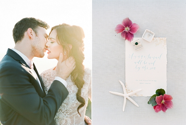 Wedding Ring and Calligraphy | Cliffside Hawaii Wedding Inspiration By Koman Photography