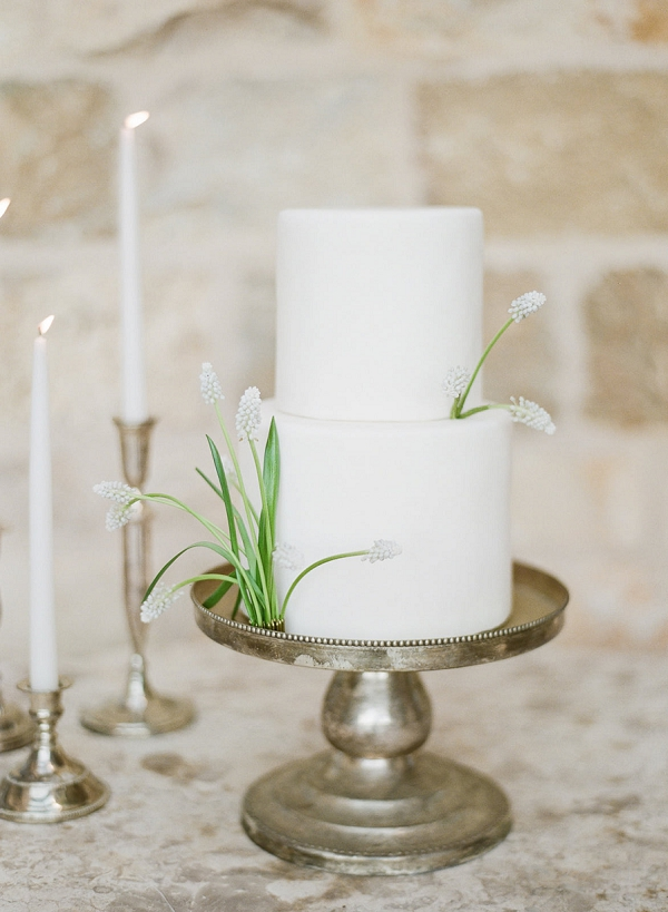 Two Tier Wedding Cake   European Inspired Wedding Ideas With Old World Elegance by Jeanni Dunagan Photography