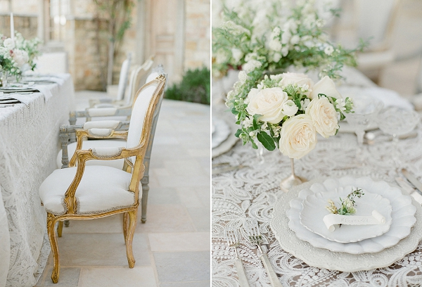 Lace Tablecloth   European Inspired Wedding Ideas With Old World Elegance by Jeanni Dunagan Photography
