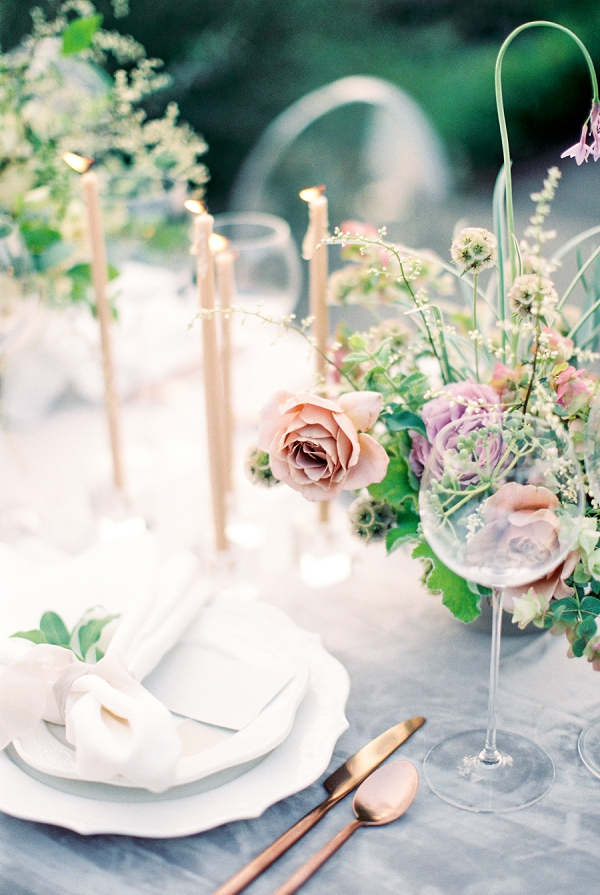 Place Setting   French Provence Wedding Inspiration by Savan Photography